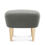 wingback ottoman with wood legs  -
