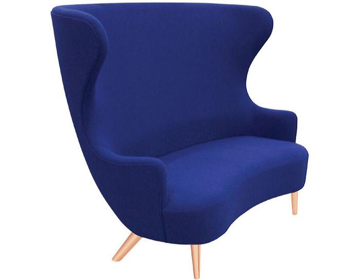 wingback 2 seat sofa