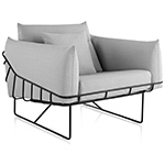 wireframe lounge chair  -