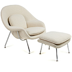 womb chair & ottoman  -