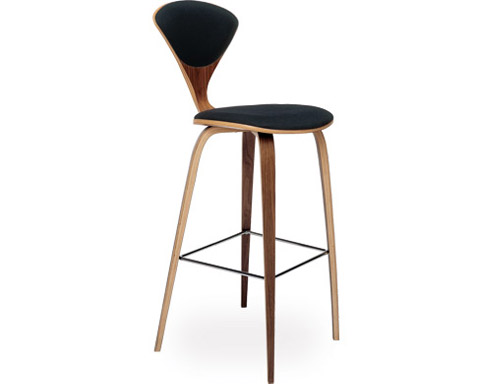 Cherner Wood Leg Stool With Upholstered Seat U0026 Back Awesome Ideas