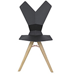 y chair with wood base  -